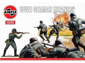 Airfix - WIWII German Infantry, Classic Kit VINTAGE figurky A02702V, 1/32