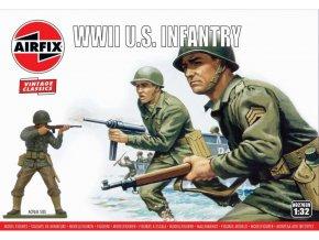 Airfix - WWII U.S. Infantry, Classic Kit VINTAGE figurky A02703V, 1/32