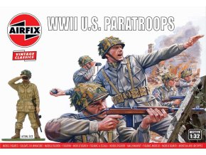 Airfix -  WWII U.S. Paratroops, Classic Kit VINTAGE figurky A02711V, 1/32