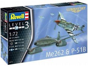 53342 revell set messerschmitt me262 north american p 51b mustang model kit 63711 1 72