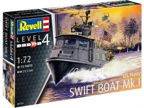 Revell - US Navy SWIFT BOAT Mk.I, Plastic ModelKit loď 05176, 1/72