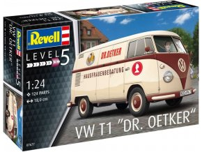 """Revell - VW T1 """"Dr. Oetker"""", Plastic ModelKit auto 07677, 1/24"""