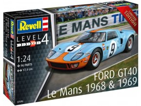 Revell - Ford GT 40 Le Mans 1968, Plastic ModelKit auto 07696, 1/24