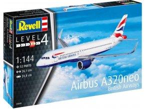 Revell - Airbus A320 neo British Airways, ModelSet letadlo 63840, 1/144