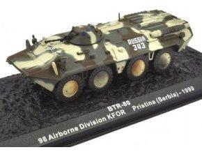 Altaya - transportér BTR-80, 98 Airborne Division KFOR, Pristina, 1999, 1/72