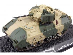 Altaya - M2 Bradley, US Army, 24.mechanizovaná jízdní divize, Saudská Arábie, 1991, 1/72 - SLEVA 25%