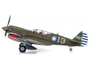 Hobbymaster - Curtiss P-40N Warhawk, čínské letectvo, 7th FS/3rd FG, Wang Kuang Fu, 1945, 1/72
