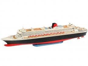 Revell - zaoceánský parník Queen Mary 2, ModelSet loď 65808, 1/1200