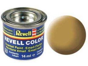 Revell - Barva emailová 14ml - č. 16 matná pískově žlutá (sandy yellow mat), 32116
