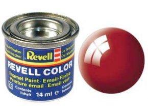 Revell - Barva emailová 14ml - leská ohnivě rudá (fiery red gloss), 32131