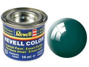 Revell - Barva emailová 14ml - č. 62 lesklá zelenomodrá (sea green gloss), 32162