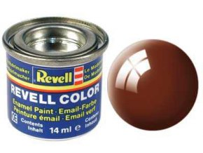 Revell - Barva emailová 14ml - č. 80 lesklá blátivě hnědá (mud brown gloss), 32180