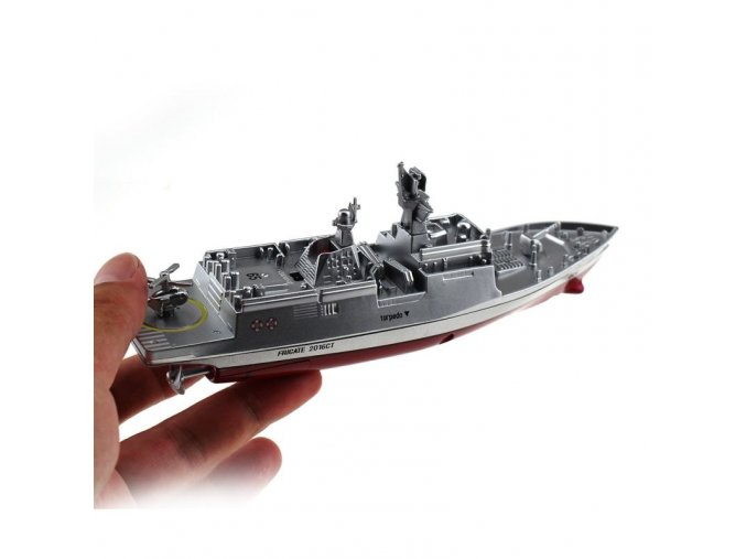 Military RC Naval Ship Vessel Model Remote Control Boat Speedboat Yacht Electric Water Kids Toy[1]