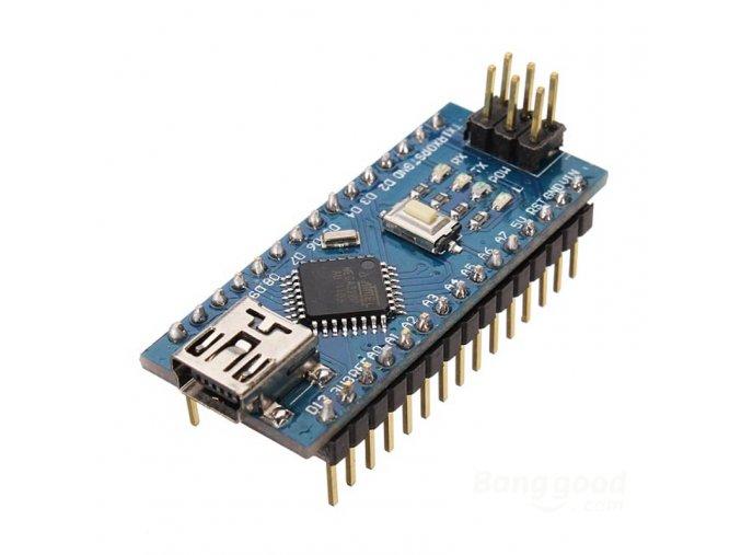 Arduino Nano v3.0 Atmega328p (Typ s připájenými piny)