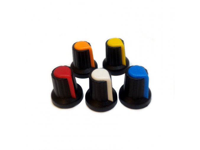Knoflík potenciometru (barva žlutá)