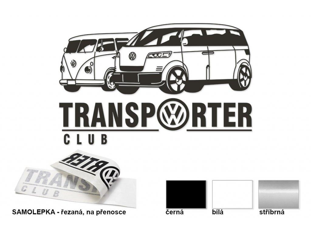 Samolepka na boční sklo - levá, Transporter club