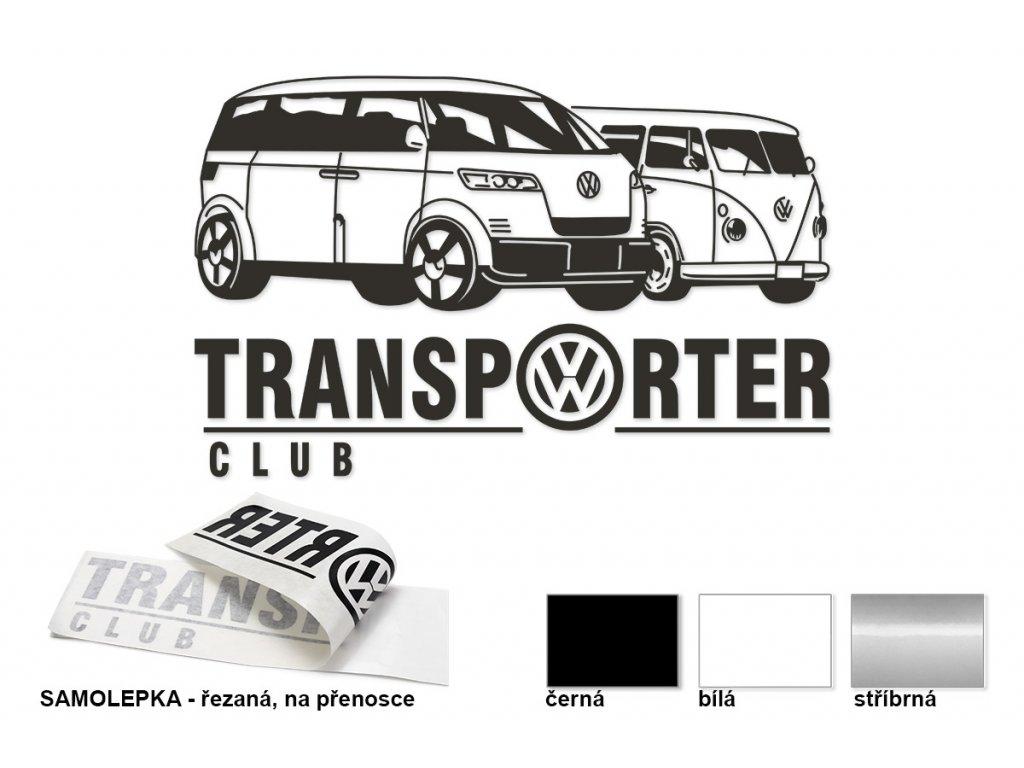 Samolepka na boční sklo - pravá, Transporter club