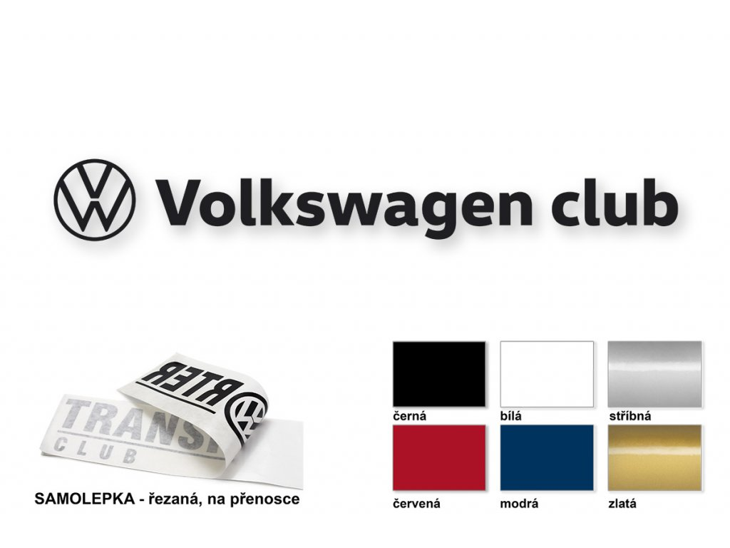 Volkswagen club samolepka