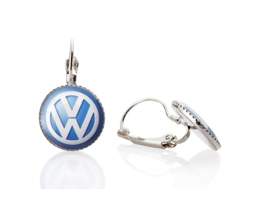 Kovové náušnice Volkswagen