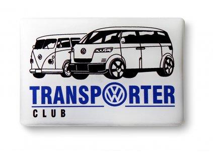 3D samolepka bílá Transporter club
