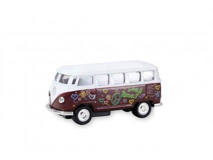 Busík malý hippie vínový