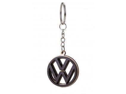Dřevěný přívěšek na klíče Volkswagen