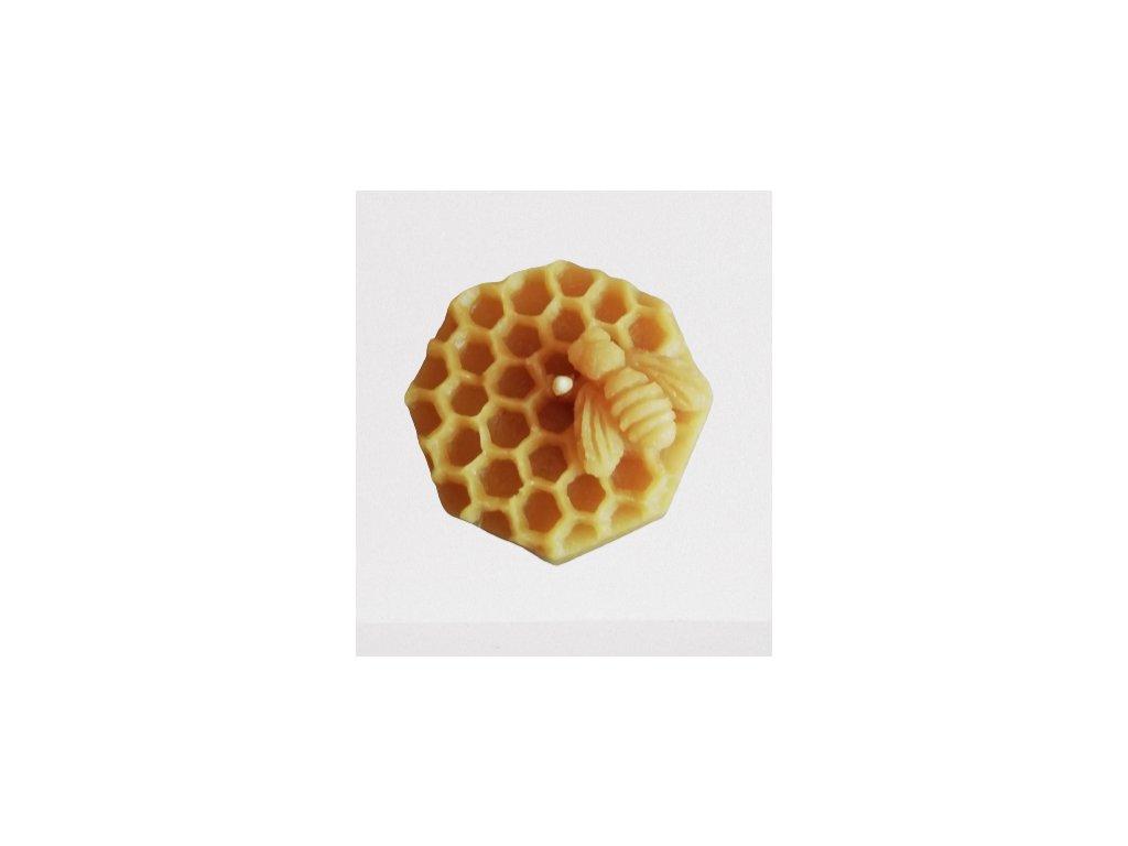 Sviečka zo včelieho vosku  - včelí úlik