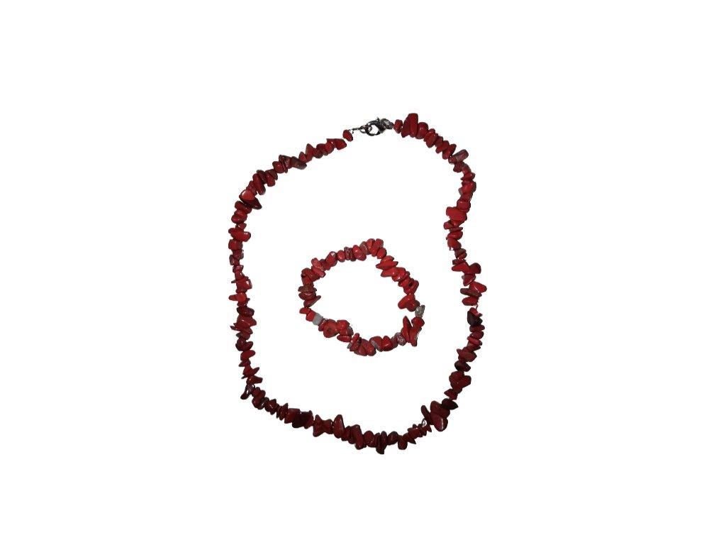 Náramok sekaný Jaspis červený