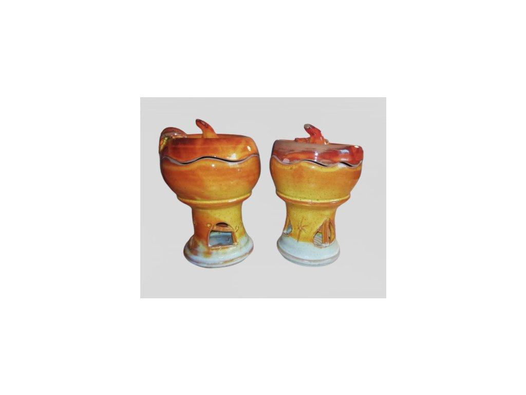 Keramická aromalampa na pečenie jabĺk