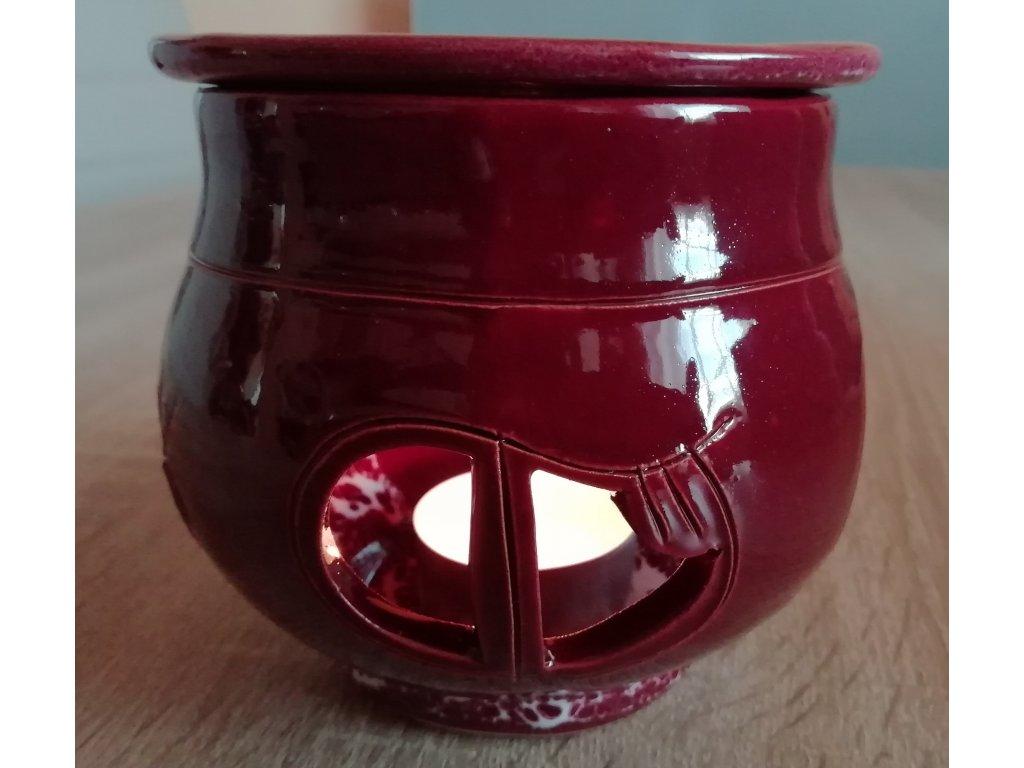 Keramická aromalampa hrnček - vínová