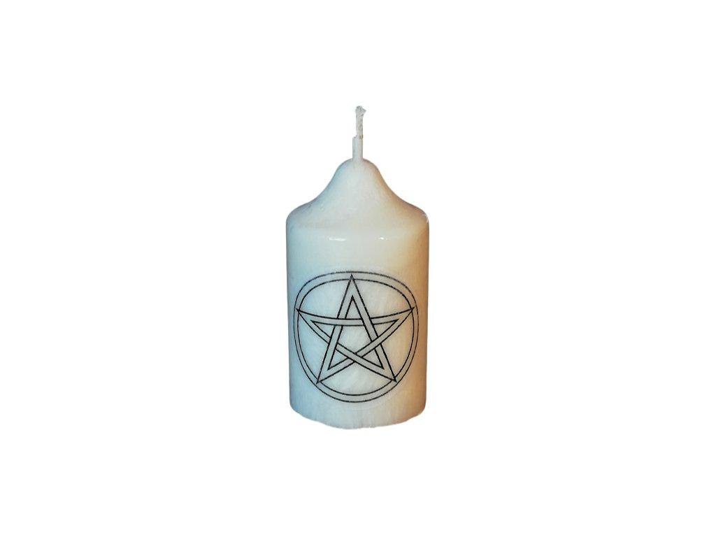 Sviečka malá Pentagram