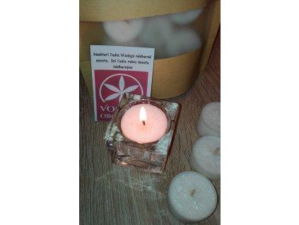Bezobalové čajové sviečky okrúhle