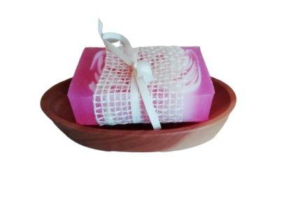 Ručne vyrobené mydlo - Ruža 120g
