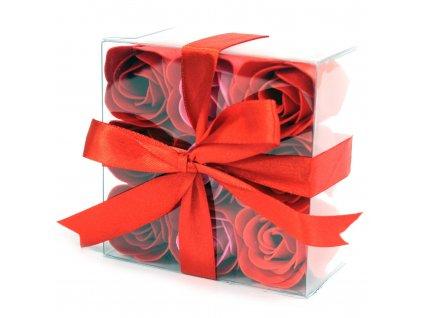 Mydlové kvety - červená ruža 9ks