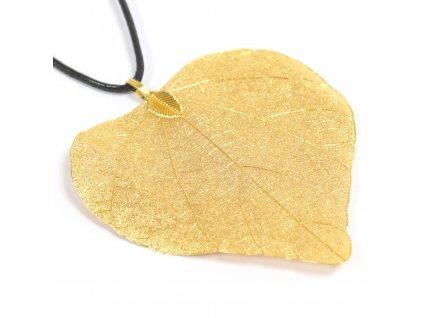 Náhrdelník  Zlatý srdcový list