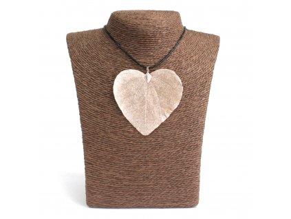Náhrdelník  Levanduľový  srdcový list