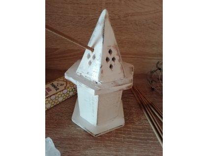 Stojan na vonné tyčinky a kužele  Pyramída Mini Dom