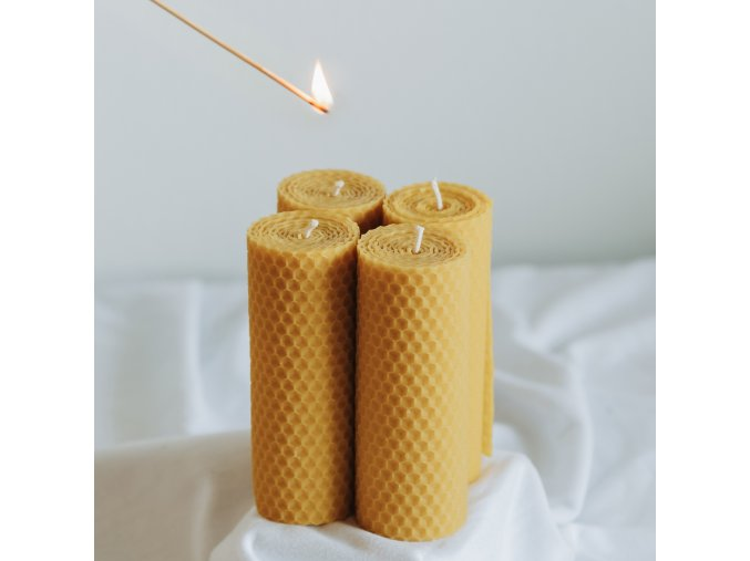 Adventné sviečky žlté 120x45mm, 4ks www.Vonia.sk