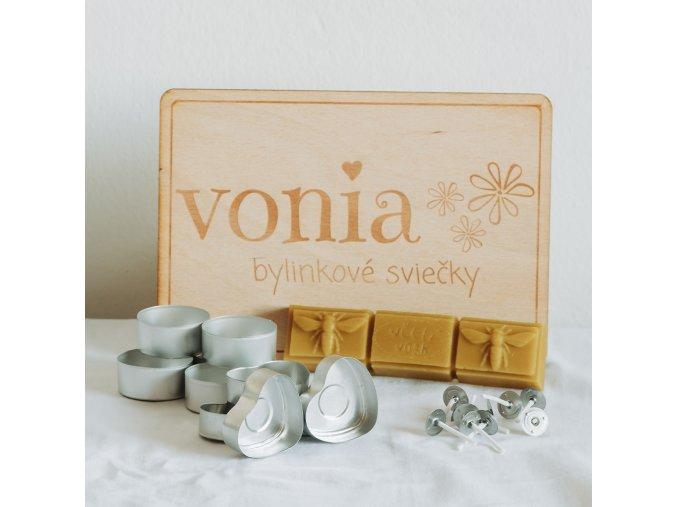 Kreatívna sada včelí vosk Vonia