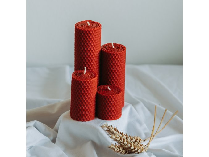 Adventné sviečky červené 160,120,80,50x45mm www.Vonia.sk