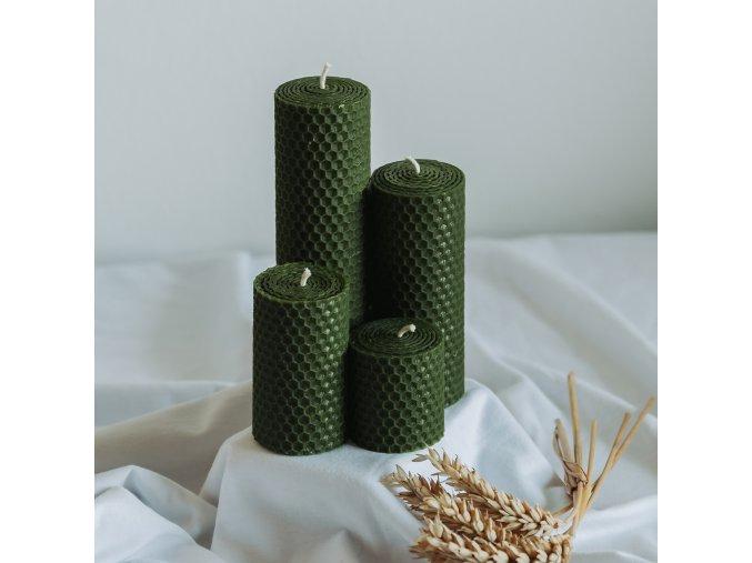 Adventné sviečky zelené 160,120,80,50x45mm www.Vonia.sk