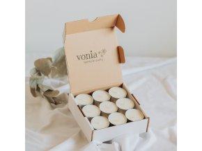 Čajové sójové sviečky 9ks VONIA