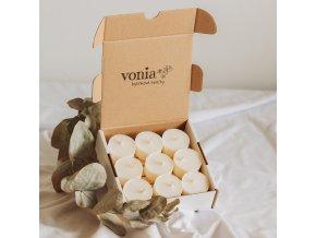 Čajové sójové sviečky zerowaste 9ks www.Vonia.sk