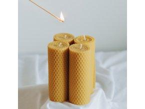 Adventné sviečky žlté 12x3 cm, 4 ks VONIA