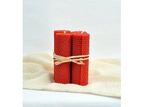 Adventné sviečky červené 12x4 cm 4ks VONIA