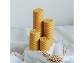 Adventné sviečky žlté 160,120,80,50x45mm www.Vonia.sk