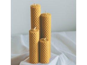 Adventné sviečky žlté 190,160,120,80x30mm www.Vonia.sk