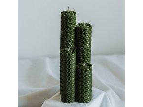 Adventné sviečky zelené 190,160,120,80x30mm www.Vonia.sk