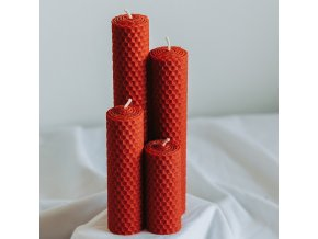 Adventné sviečky červené 190,160,120,80x30mm www.Vonia.sk