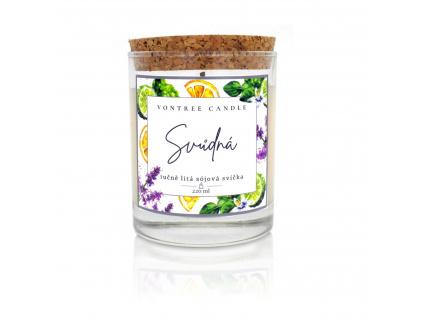 Vonná sójová svíčka jasmín vanilka